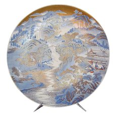 Exquisite Japanese Meiji Period Large Porcelain  Charger