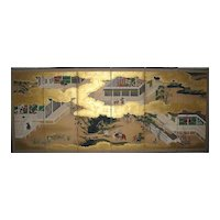 "Japanese Six-Panel Screen of ""The Tale of Genji"""