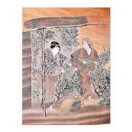 Silk Fukusa of Women Harvesting Tea