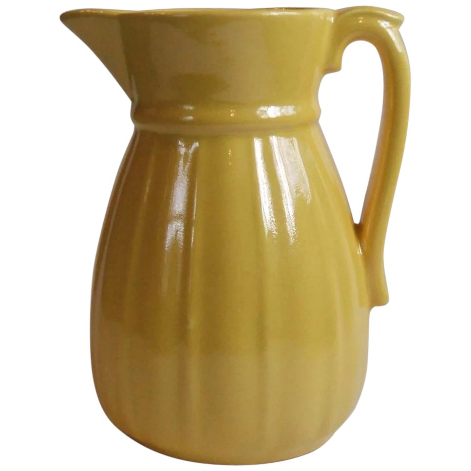 Click to expand  sc 1 st  Ruby Lane & Stangl Pottery Colonial Yellow 16 Oz Jug Pitcher 1388 5.75 Inch SOLD ...