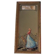 Vintage Charter Oak Restaurant Advertising Mirror Now Hungry Tiger Cafe Manchester CT Breezy