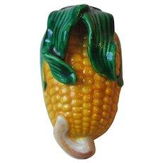 Vintage Figural Ear of Corn Japan Art Pottery Wall Pocket