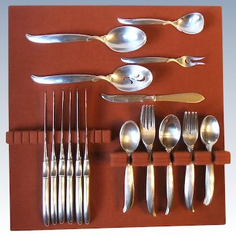 1847 Rogers 1956 Flair Silverplate 41 Pc Set Service for 6 Plus