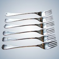 WMF Finesse Salad Forks Satin Stainless Steel Cromargan Germany