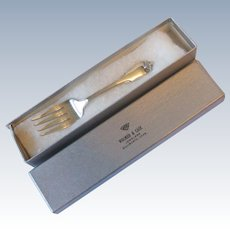 Wallace 1942 Grand Colonial Sterling Silver Baby Fork Unused in Box