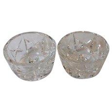 Two Vintage Waterford Crystal Open Salt Cellars Dips 2.75 Inch