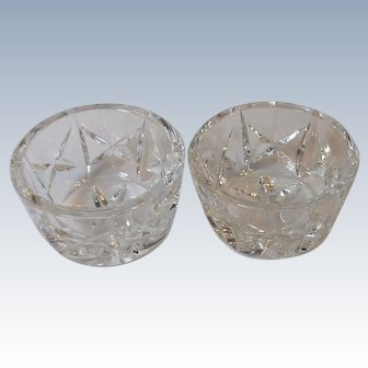 Two Vintage Waterford Crystal Open Salt Cellars Dips 2.75 Inch