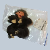 Vintage Original Fur Animals Toys Miniature Chimpanzee Chimp W Germany