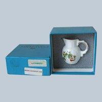 Coalport England Strawberry Toy Miniature Micro Caughley Jug NIB