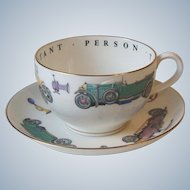 Royal Worcester China Classic Car Automobile VIP Oversize Cup and Saucer