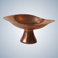 Vintage Mid Century Modernist Copper Compote