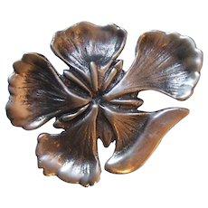 Vintage Ming's Honolulu Sterling Silver Hawaiian Flower Pin Brooch