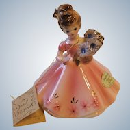 Josef Originals Japan September Sapphire Birthstone Girl Figurine