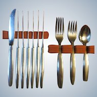 30 Pc Set International Stainless Deluxe Stockholm MCM Flatware