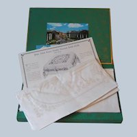 Vintage Boxed Set 6 Irish Linen Double Damask Celtic Design Napkins