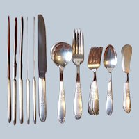 National Silver King Edward Silverplate Flatware Set Service for 6