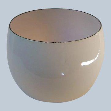 Dansk France White Kobenstyle Enamel Serving Pudding Bowl