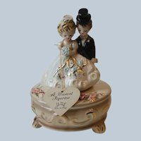 Vintage Josef Originals Japan Wedding Bride and Groom Music Box