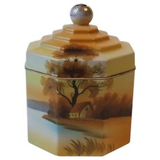 Noritake China Tree in the Meadow Covered Candy Tobacco Jar