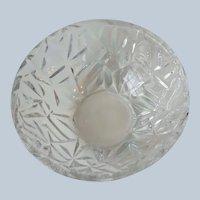Vintage Tiffany Rock Cut Crystal 6 Inch Bowl Signed
