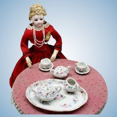 Beautiful French Porcelain Tea Service for Fashion Dolls