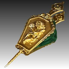 Antique Embossed Ormolu Bellows for your Doll
