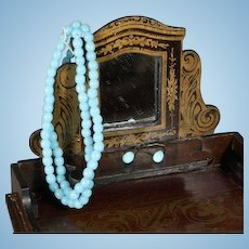 Antique Blueglass Jewelry Set for Fashion Doll