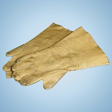 Pair of Antique Leather Fashion Doll Gloves
