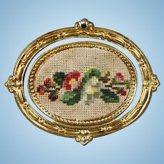 Ormolu Frame with rare representation of needle work - by Erhard & Söhne