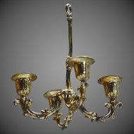 Antique Dollhouse Chandelier in Painted gilded Metal