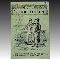 French Newspaper for Your Fashion Doll - LE MONDE ILLUSTRE circa 1905