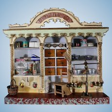 """Superb French Wooden Toy Grocery labeled """"Epicerie Parisienne"""""""