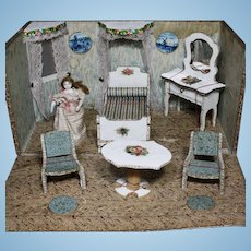 Original French Tiny Room for Dollhouse dolls or Mignonettes