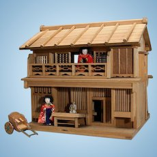 Miniature Wooden Japanese Dollhouse