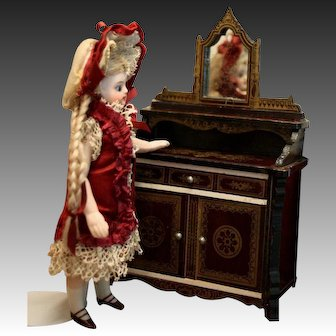 Antique Dollhouse Dessert Buffet in the Boulle style