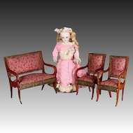 Early French Doll Parlor Set for Fashion Dolls or Tall Mignonettes