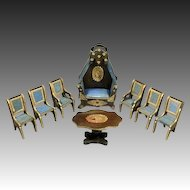Exceptional Antique French Parlor Set with Wonderful Day-bed - By Louis Badeuille