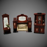 German Wooden Dollhouse Parlor Set - by Eppendorfer & Nacke
