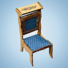 Early French Prie-Dieu Chair for a Mignonette by Badeuille