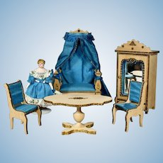French Miniature Salon with Day-Bed