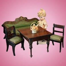 Antique Biedermeier Furnishings in the Boulle Manner