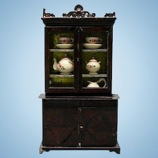 German Painted-Tin Dollhouse Cabinet by Rock & Graner