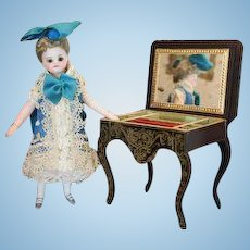 Antique Miniature Biedermeier Sewing Stand