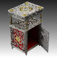 Antique Dollhouse Soft Metal Cabinet