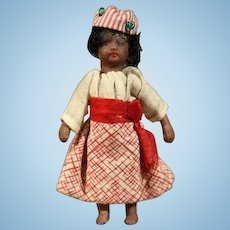 All-Bisque Tiny Doll - The Black Mignonette