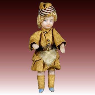 Antique All-Bisque Lilliputian Doll - The Scottish Boy