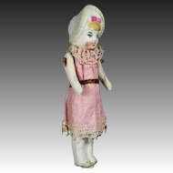 All-Bisque Bonnet Doll in Original Costume