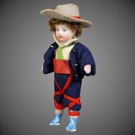 All-Bisque Lilliputian Doll - The Good Shepherd