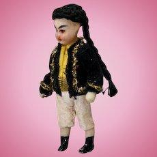 Antique All-Bisque Asian Boy
