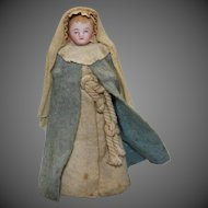 Antique All-bisque Doll dressed as Nun